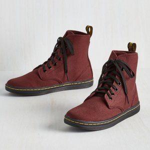 Doc Martens Shoreditch Air Wair Red Canvas Boots 5